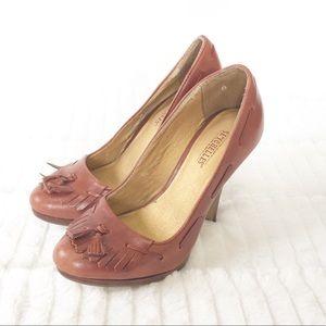 Seychelles 6 Leather Heels Fringe Oxford Tassel